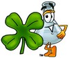 A beaker and clover clipart