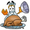 A dome and thanksgiving turkey clipart