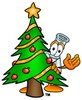 A beaker and christmas tree clipart