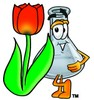A beaker and tulip clipart