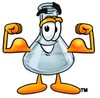 A beaker flexing clipart