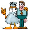 A beaker and a man clipart