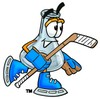 A hockey playing beaker clipart
