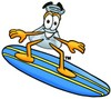 Clipart Illustration of a Surfing Beaker