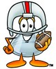 Clipart Illustration of a Beaker With a Football and Wearing a Helmet
