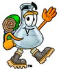 A beaker in a backpack clipart