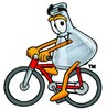 A beaker on a bicycle clipart