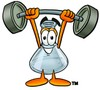A weight-lifting beaker clipart