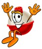 A bobber jumping clipart