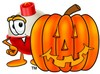A bobber and carved pumpkin clipart