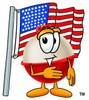 A bobber and flag clipart