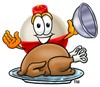 A bobber and a roast turkey clipart