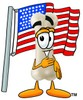 A bone and the United States flag clipart