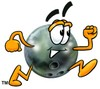 A bowling ball running clipart
