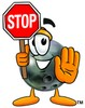 A bowling ball saying stop clipart