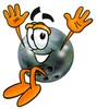 A jumping bowling ball clipart