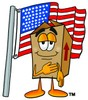 A box and a flag clipart
