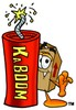 A box and a lit firework clipart