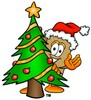 A box and a christmas tree clipart