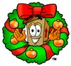 A box in a wreath clipart