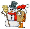 A box and snowman clipart