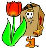 A box and tulip clipart