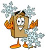 A box and snowflakes clipart