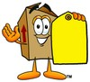 A box and a tag clipart