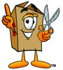 A box with scissors clipart
