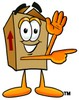 A pointing box clipart