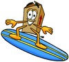 A surfing box clipart