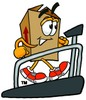 A box on a treadmill clipart