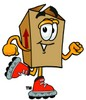 A rollerblading box clipart