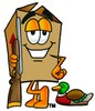 A box going hunting clipart