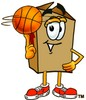 A box and a basketball clipart
