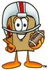 A box in a helmet with a football clipart