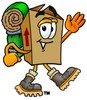 A box hiking clipart