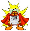 A superhero calculator clipart
