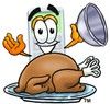 A calculator and roast turkey clipart