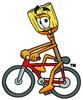 A cartoon broom riding a bike clipart