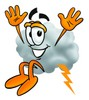 Cloud Cartoon Character Jumping clipart