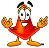 Cone Cartoon Character clipart