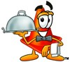 Cone Cartoon Character Holding a Serving Platter clipart