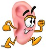 Ear Cartoon Character Running clipart