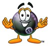 Eight Ball Cartoon Character clipart