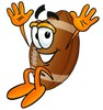 Football Cartoon Character Jumping clipart