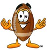 Football Cartoon Character clipart