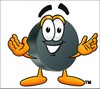 Hockey Puck Cartoon Character clipart