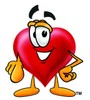 Heart Cartoon Character Pointing at You clipart