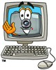 Camera Cartoon Character in a Computer Screen clipart